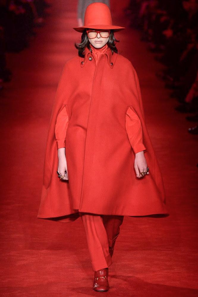 Hari Nef walk for Gucci FW2016-17 Menswear at Milan Fashion Week