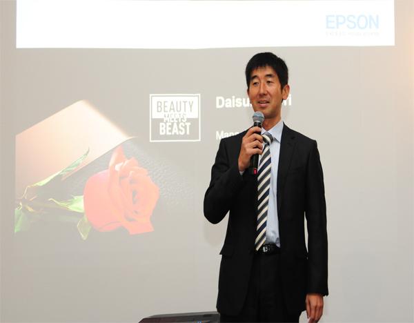 马来西亚爱普生董事经理Daisuke Hori希望透过EF-100系列产品改变人们观赏节目的方式。