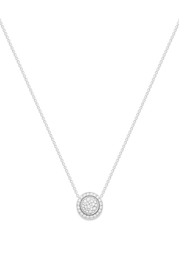 Piaget Possession 时来运转 Lucky 项链 - 18K 白金项链搭配圆弧形可翻转坠饰,镶饰46 颗明亮式切割美钻(约重0.48 克拉)。 -G33PF200